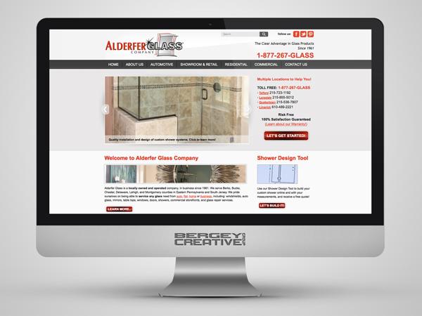 Alderfer Glass website imac